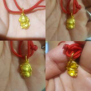999.9 Gold Monkey Pendant