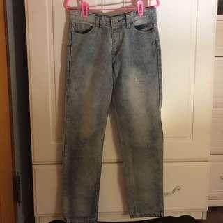 🚚 刷白直筒牛仔褲