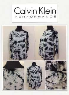 Calvin Klein Performance Tie Dye Platinum/Blk Top