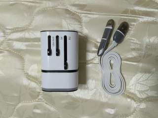 Universal Travel Adaptor and USB Charger