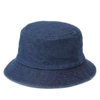 🚚 [特價含運] MUJI 無印良品 靛藍 丹寧平頂有簷帽    漁夫帽