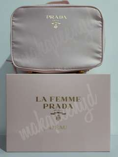 PRADA LA FEMME POUCH PINK 17x13x8