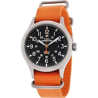 [現貨/In stock]Timex 40mm 橙色Nato手錶 Expedition Scout Orange Nato Strap Watch (TW4B04600)