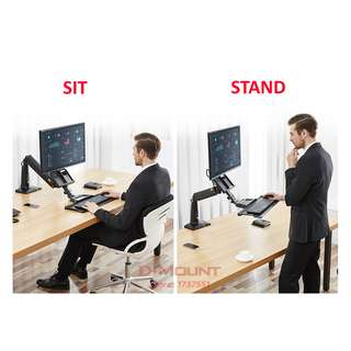 (FC35) Sit or Stand Work Station for Desktop of Size up to 35″  Message 9274 2295