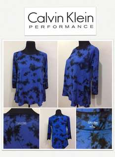 Calvin Klein Performance Tie Dye Blue /Blk Top
