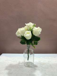 White Artificial Roses