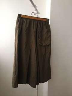 🚚 棕綠大寬褲