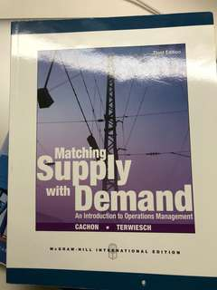 Matching supply with demand 3rd Edition - Cachon