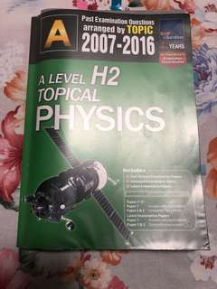 [A Level] H2 Physics Topical Physics TYS