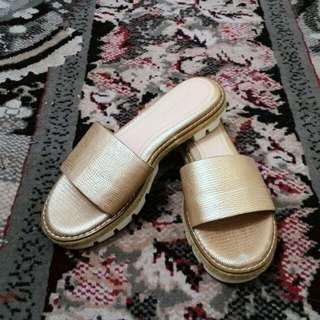 Zara Rosegold sandals