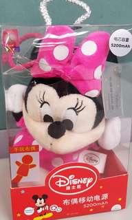 🚚 迪士尼 米妮 布偶行動電源 盒損隨便賣