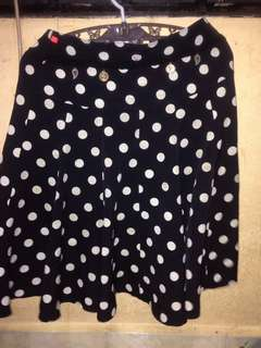 Polkadot Skirt with sleeves n coin