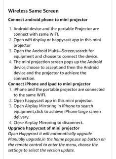 Mini projector or pocket projector