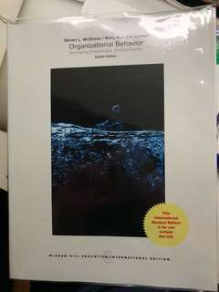 Organisational behaviour 8th Edition - Steven L Mcshane / Mary Ann Von Gilnow (McGraw Hill Education International Edition)