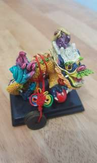 Colourful money dragon - vintage