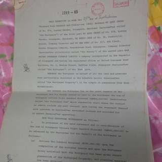 17 Pages Singapore Old Legal Document 1981
