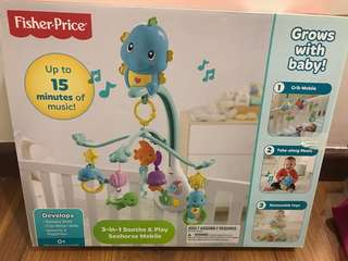 Fisher Price 3 in 1 Seahorse Mobile for Crib