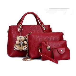 handbag with 4sets