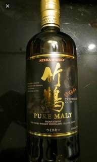 日本竹鶴NAS威士忌700ml, no box 一支。