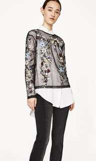 Zara embroidery tulle