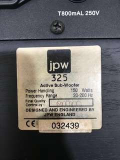 JPW High End Sub Woofer