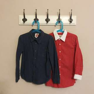 BRAND NEW Niko Baby / LIKE NEW Cotton On Kids Boys Polka Dots Smart Formal Long Sleeve Shirt Shirts