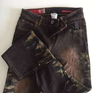 Authentic guess bottom cut jeans