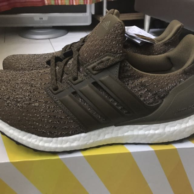 d4856830 Adidas Ultra Boost 3.0 Trace Olive Leather Cage (green Olive) Uk8 ...