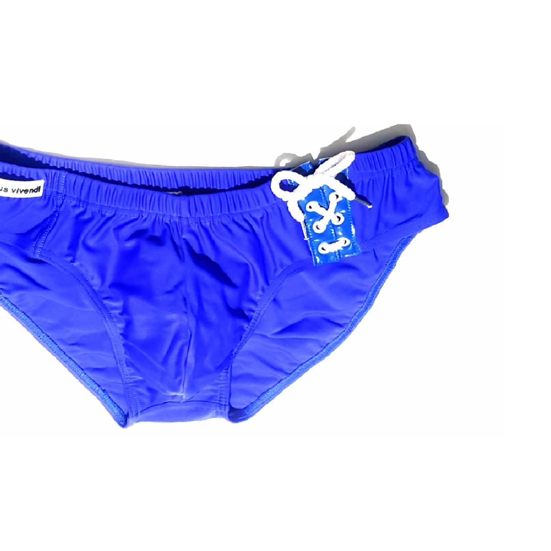 538dafa0aa171 Authentic MODUS VIVENDI Low-rised Swim Brief BLUE 34-38, Men's ...
