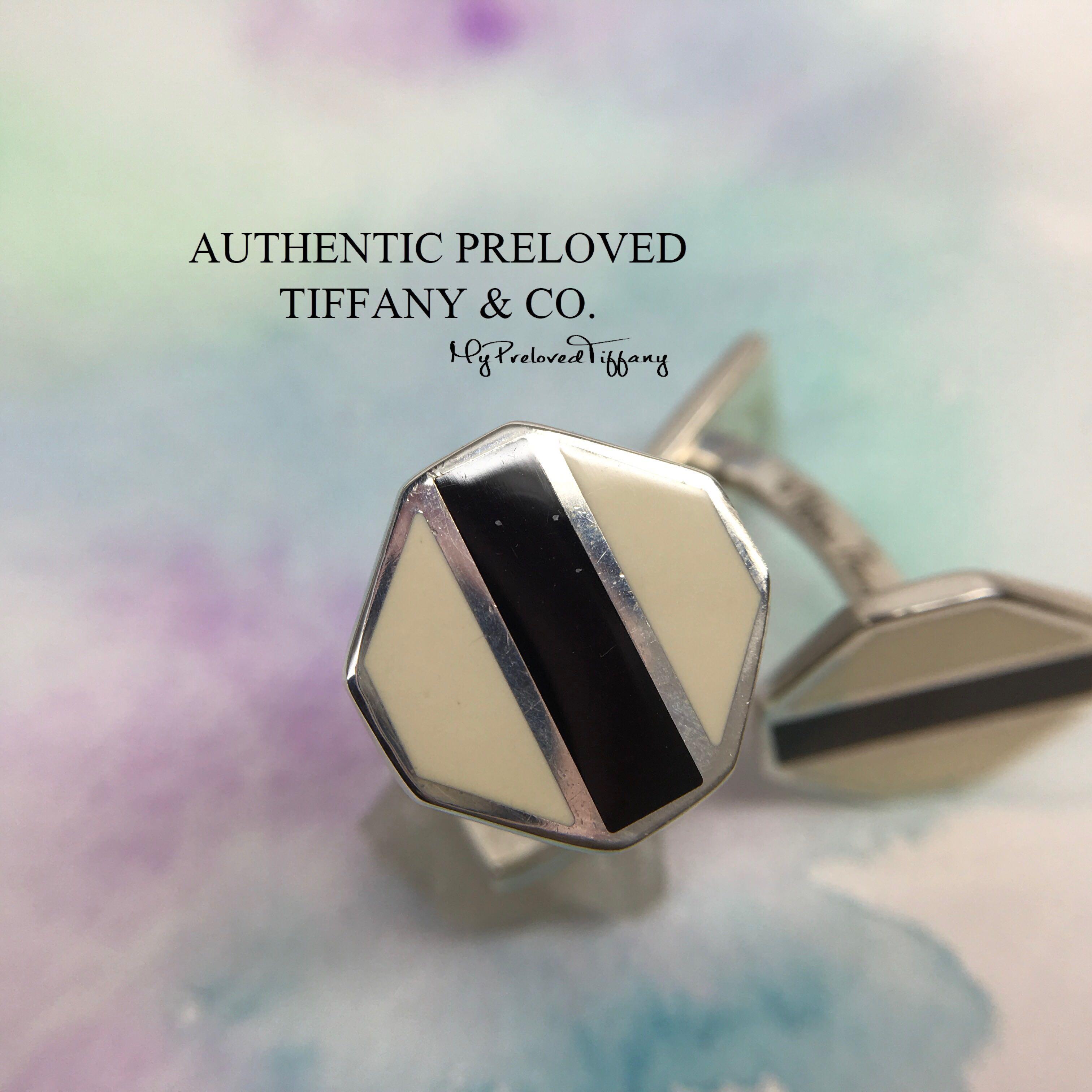 07a76ef13 Authentic Rare Tiffany & Co. Paloma Picasso Zellige Black White ...