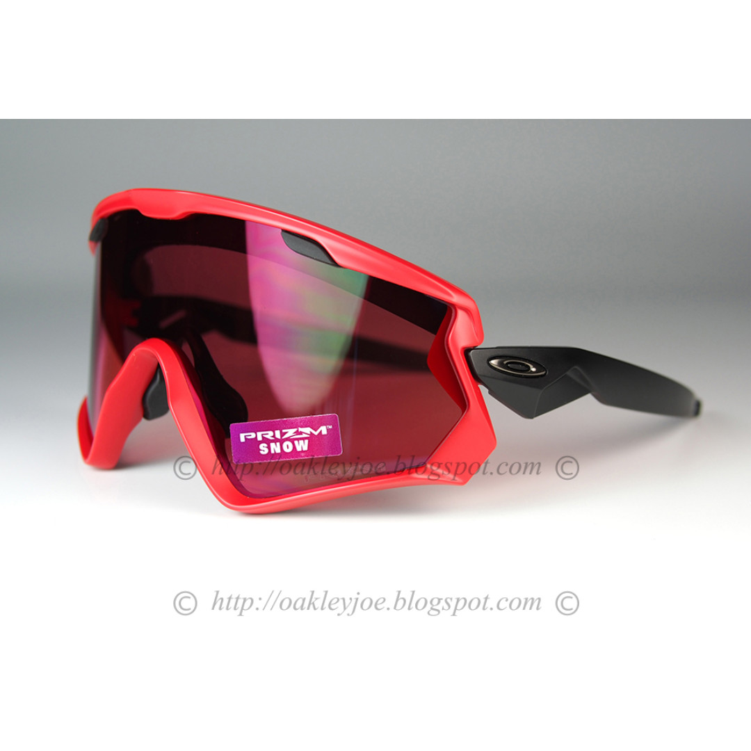 ebf555a5fb778 BNIB Oakley Wind Jacket 2.0 viper red + prizm snow torch iridium oo9418-0645  sunglass shades
