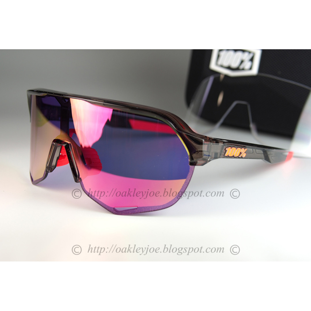 3e7b3e311e BNIB 100% S2 Peter Sagan tranclucent crystal + purple multilayer mirror  cycling sunglass shades