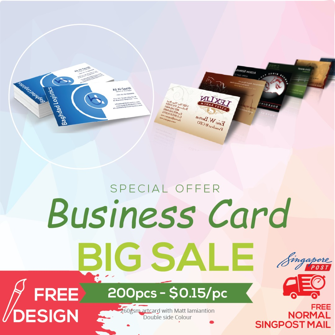 Business card name card printing everything else on carousell photo photo photo reheart Gallery