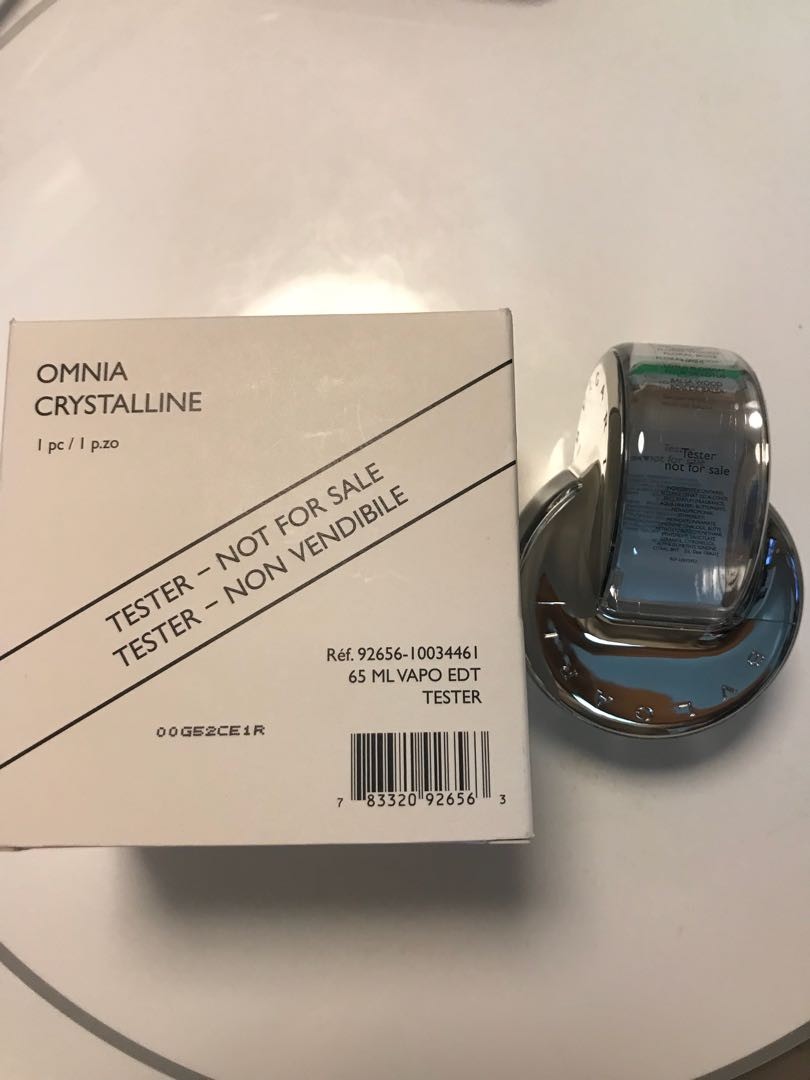 Bvlgari Omnia Crystalline Edt 65ml Brand New With Box Tester Amethyste 65 Ml Non Photo