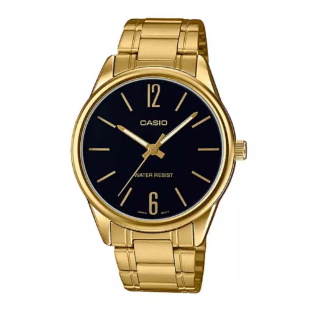 d08e79669 Casio Men's Standard Analog Gold Tone Stainless Steel Band Watch ...