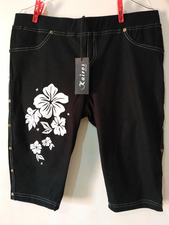 Celana Legging Jeans Selutut Fesyen Wanita Pakaian Wanita Bawahan Di Carousell