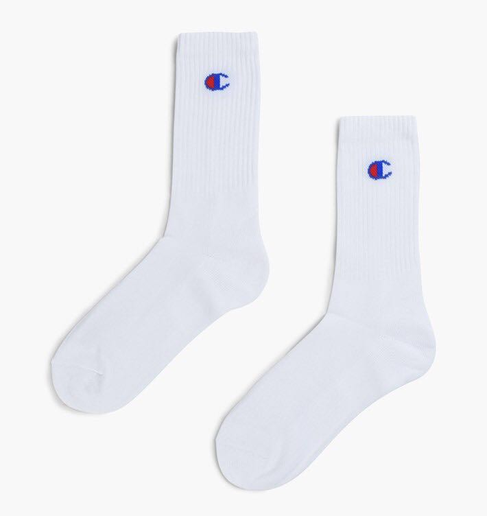 b6a07c6d7a9 Champion Logo Sock - 3 Pack All White