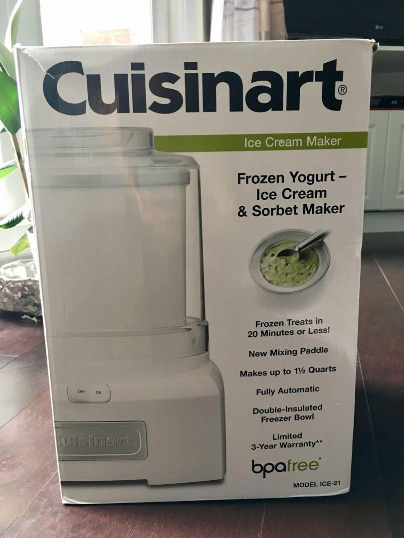 Cuisinant Frozen Yogurt Ice Cream & Sorbet Maker
