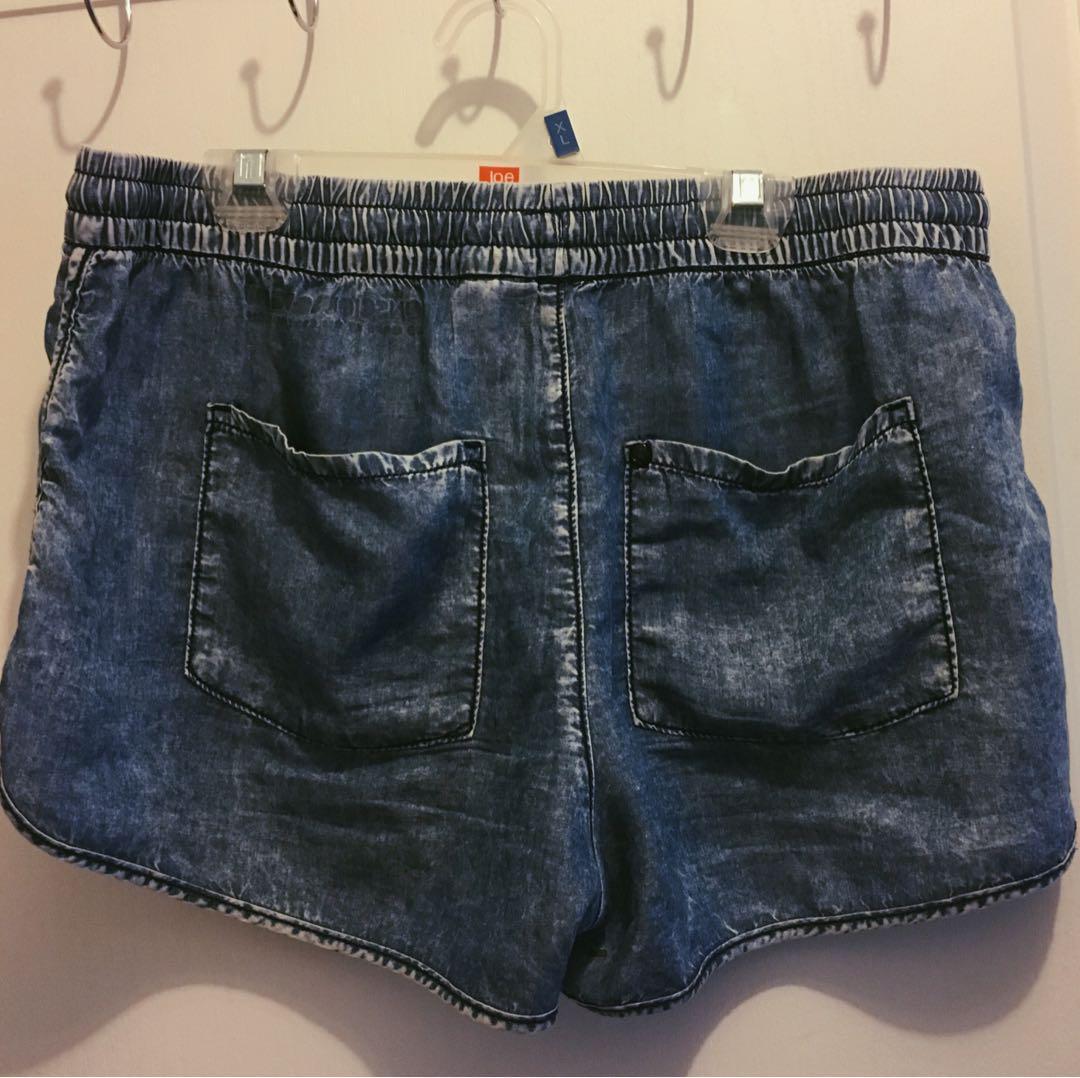 Denim Print Shorts