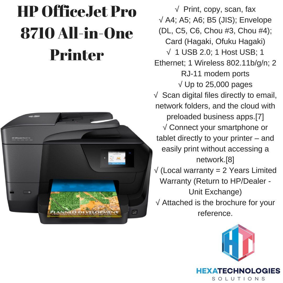 Hp Officejet Pro 8710 All In One Printer Electronics Others On