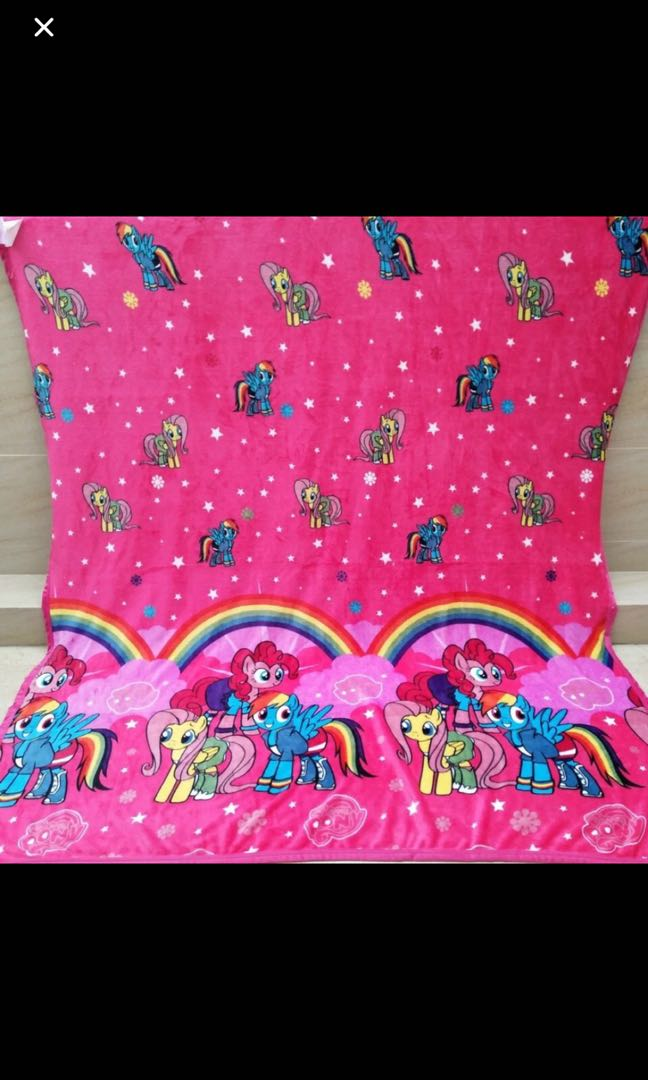 instock 2sets only my little pony blankets ht 190cm wt 117cm