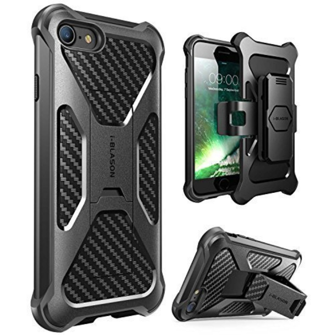 size 40 8b132 71319 [IN-STOCK] iPhone 7 Case, iPhone 8 Case, i-Blason Transformer [Kickstand]  Apple iPhone 7/Apple iPhone 8 [Heavy Duty] [Dual Layer] Combo Holster Cover  ...