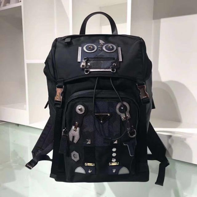 7da30bfe9620 get instock prada robot nylon backpack limited edtion mens fashion bags  wallets backpacks on carousell 6dcbb
