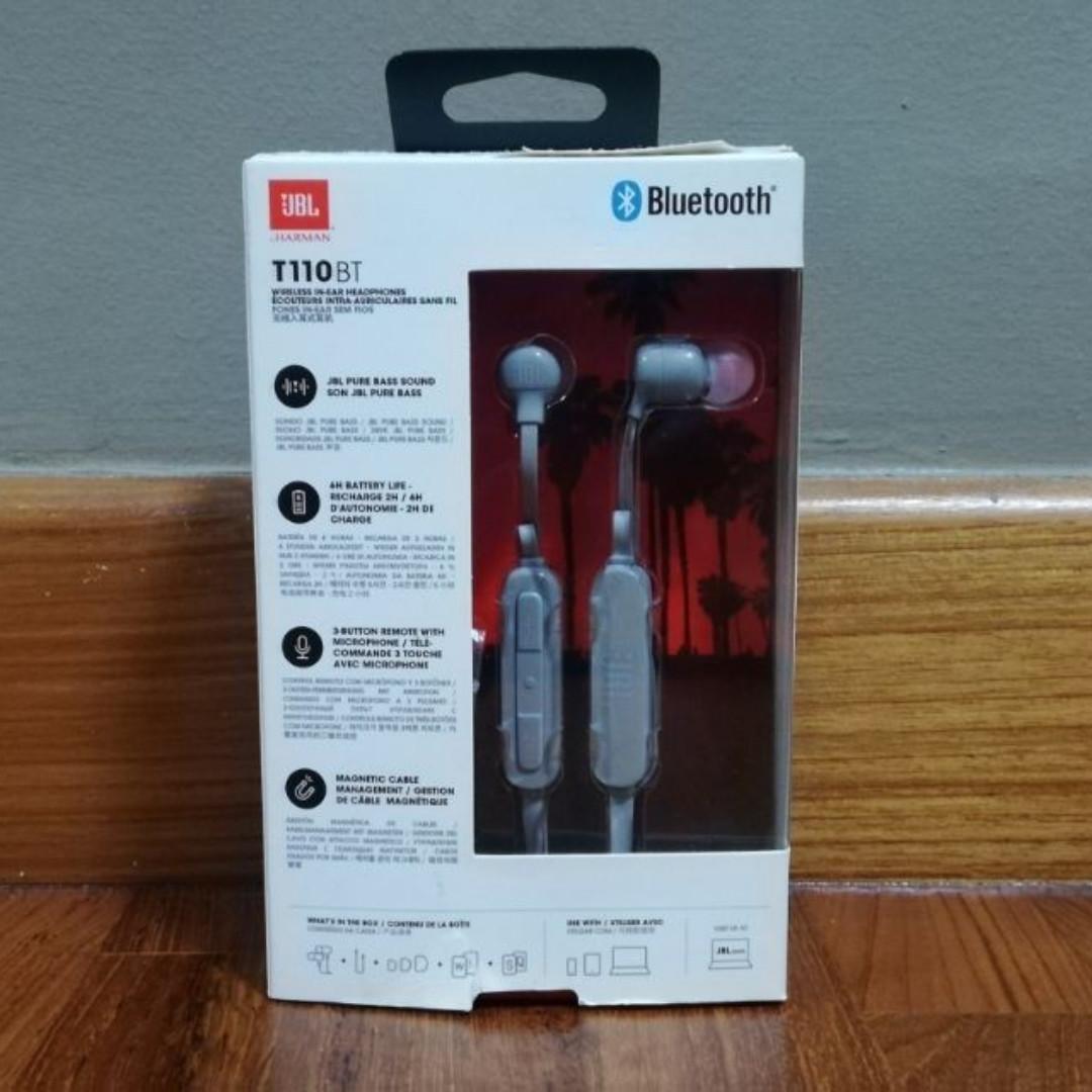 JBL T110 BT wireless in-ear earpieces