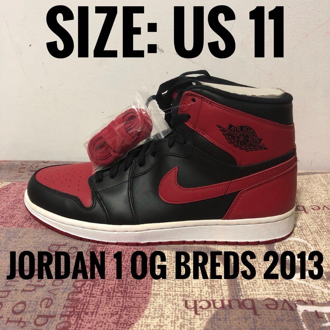 best service cc683 5db60 Jordan 1 Bred OG 2013