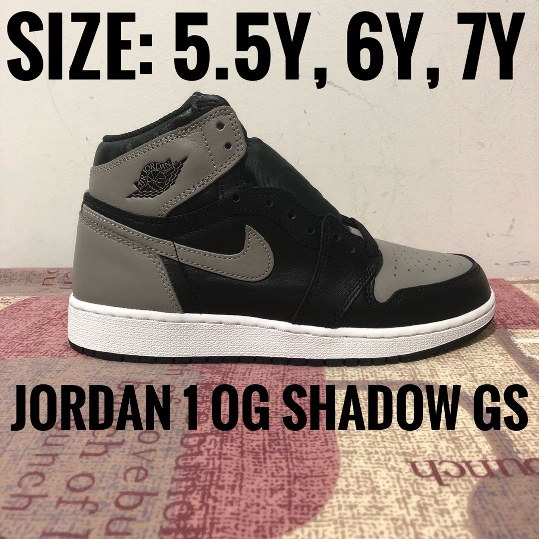 a81deff8115 Jordan 1 Shadow GS Size