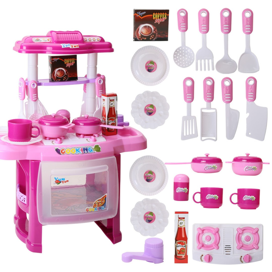Ready Stock Kid Pretend Play Cooking Food Kitchen Set Baby Girls Toy