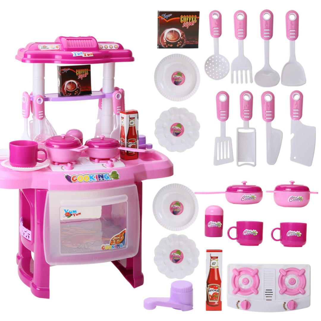 Ready Stock Kid Pretend Play Cooking Food Kitchen Set Baby Girls