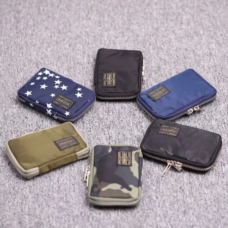 89e5b630e94b M722 New Yoshida porter clutch bag key bag coin purse YKK zipper ...