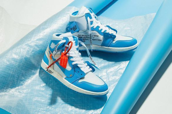 9cf65236f75432 Nike Air Jordan 1 Off White UNC US10